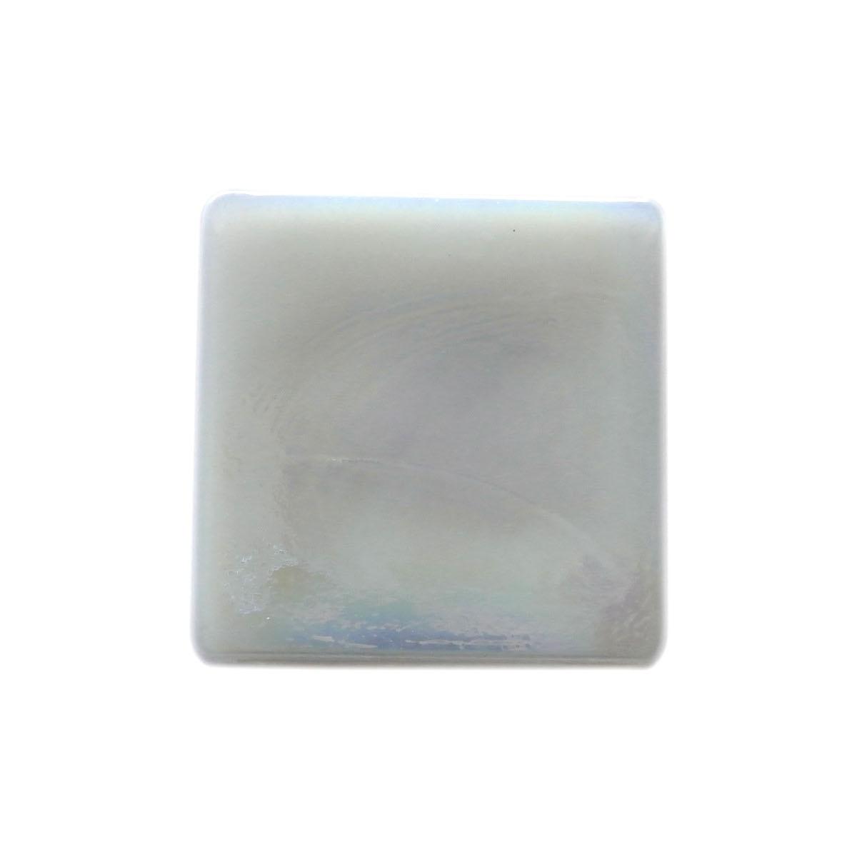 "Atmosphere 2"" x 2"" Glossy Iridescent White Glass Loose Backsplash Mosaic Wall & Floor Tile"