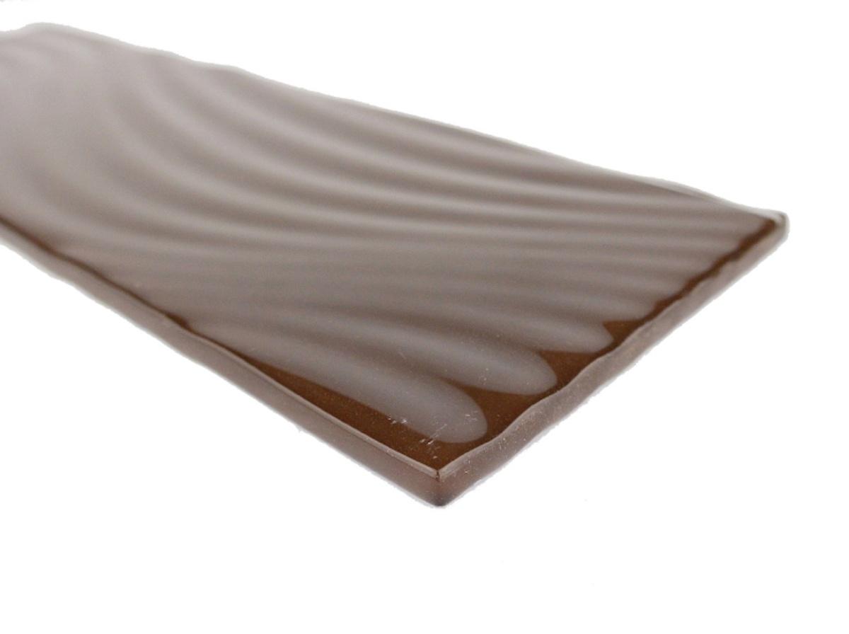"Pacific 4"" x 12"" Glossy Brown Glass Subway Backsplash Wall & Floor Tile"