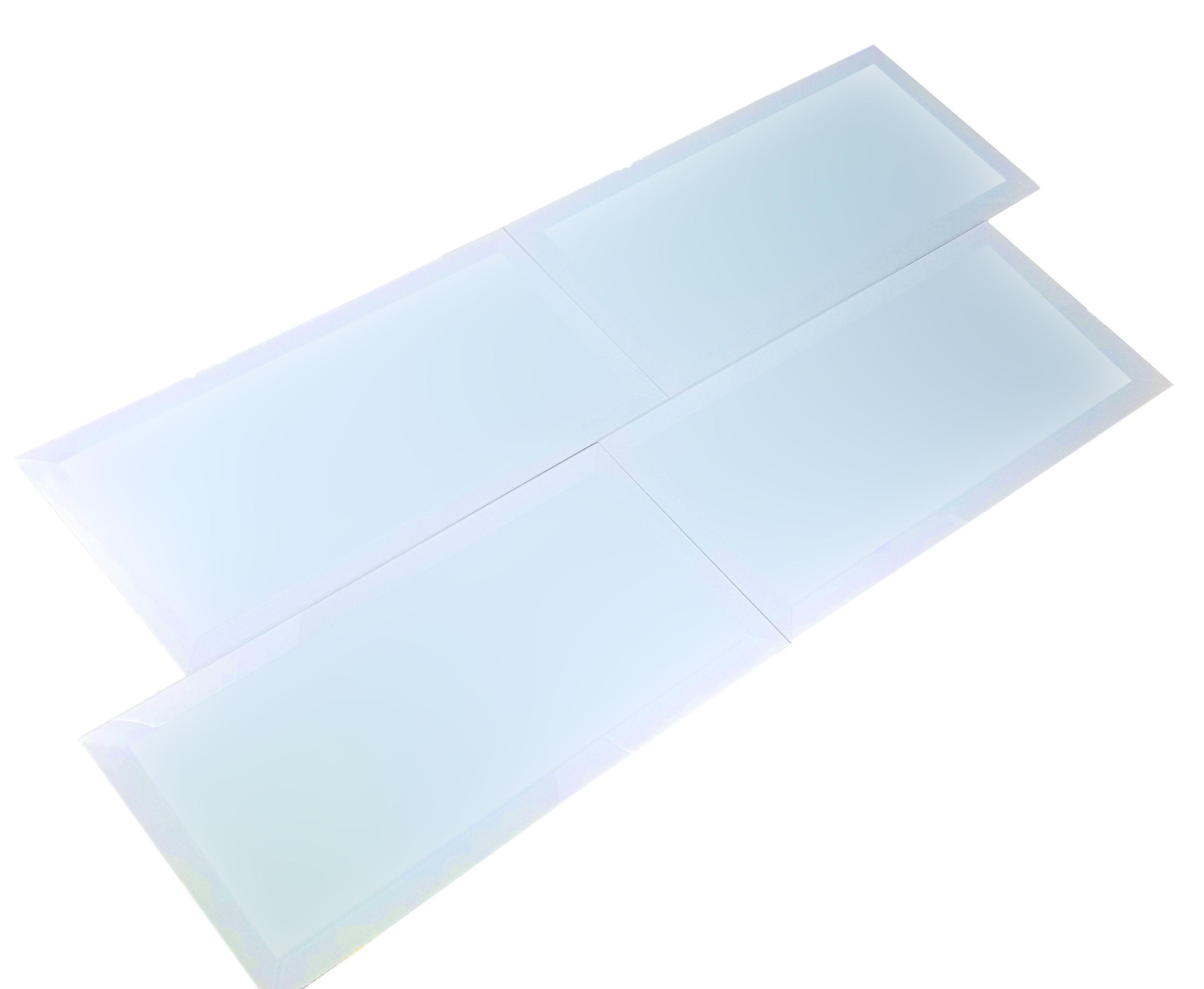 "Frosted Elegance 8"" x 16"" Matte Blue Glass Field Backsplash Wall Tile"