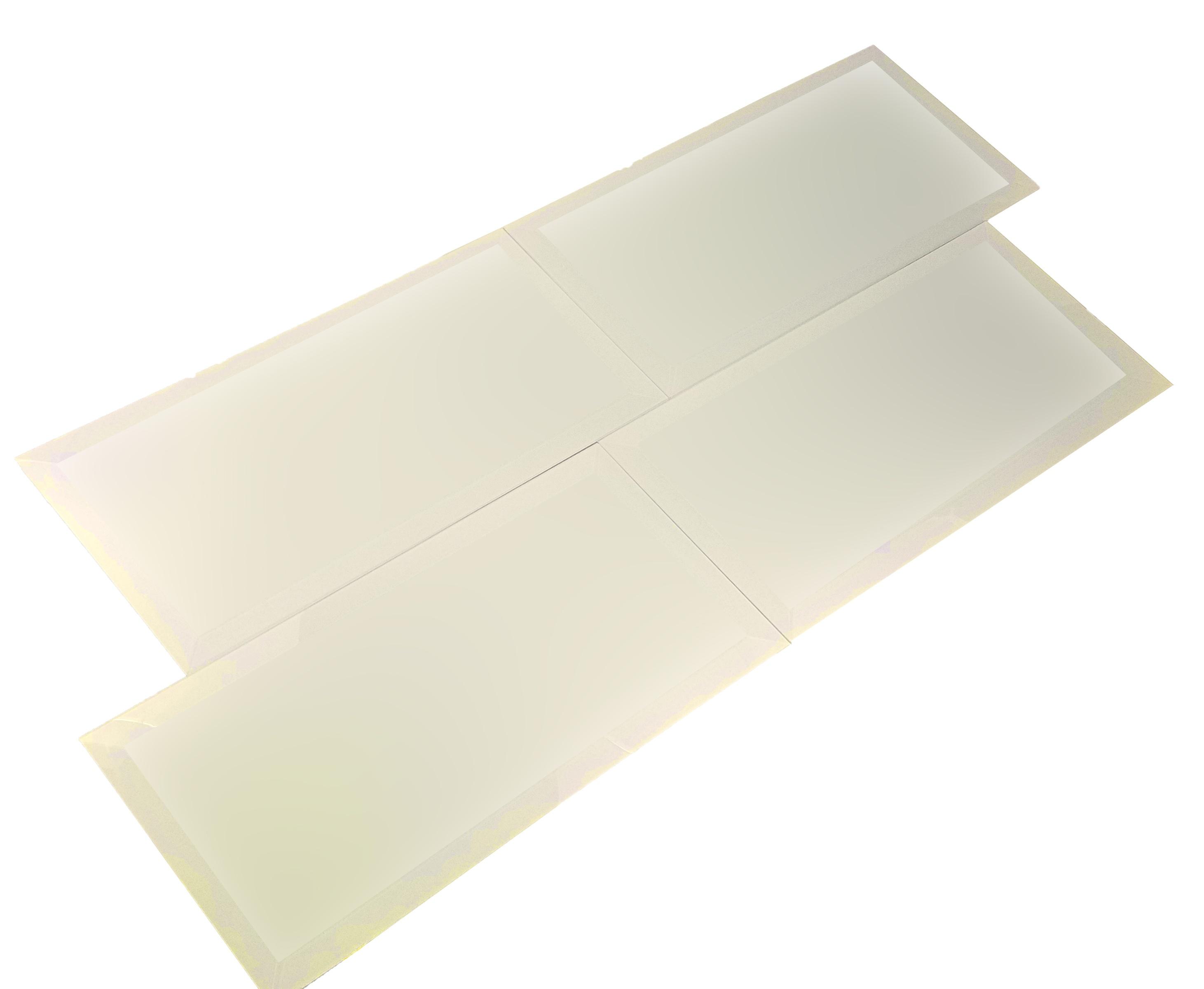 """Frosted Elegance 8"""" x 16"""" Matte Beige Glass Field Backsplash Wall Tile"""