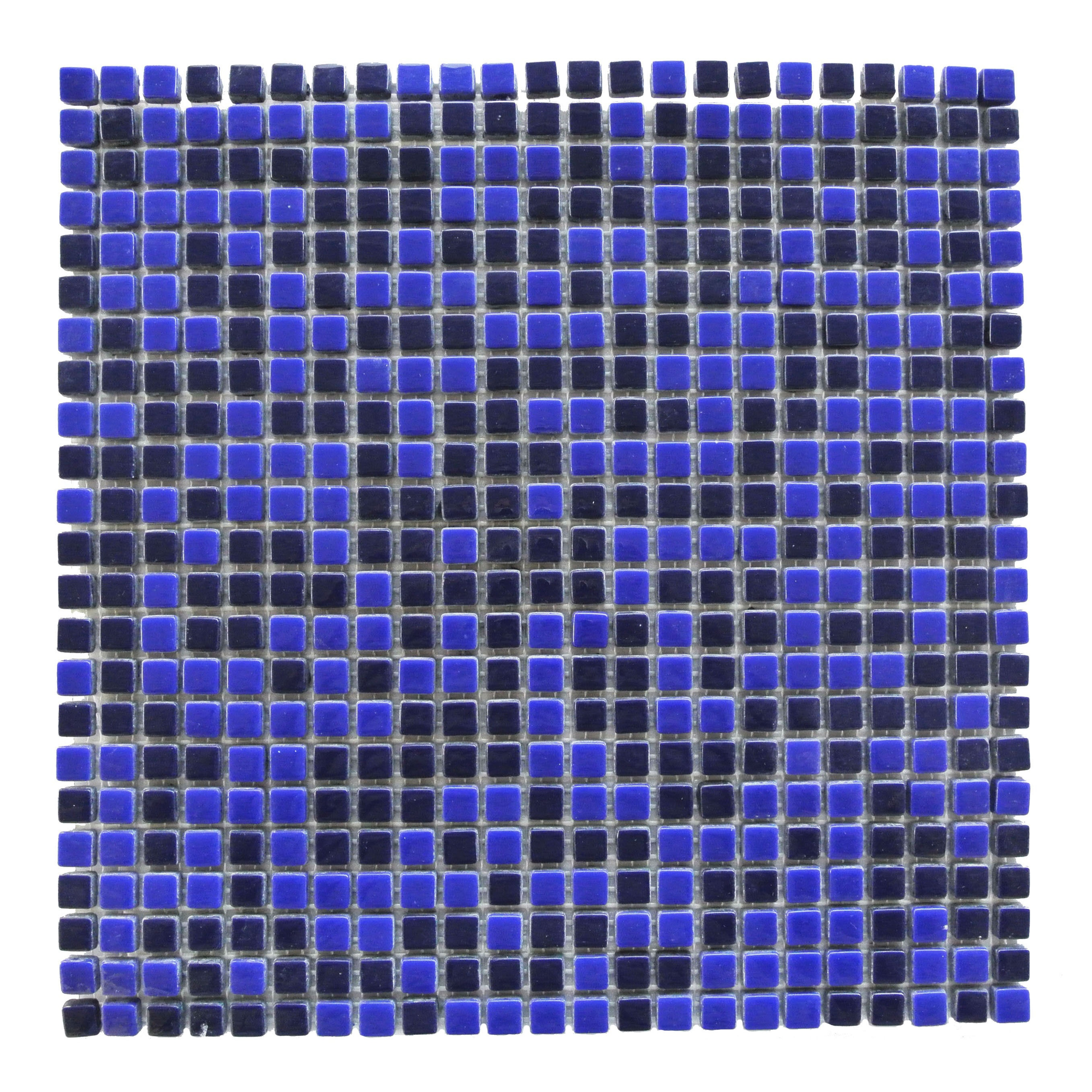 Full Body 0.5 in x 0.5 in Glass Square Mosaic in COBALT Glossy