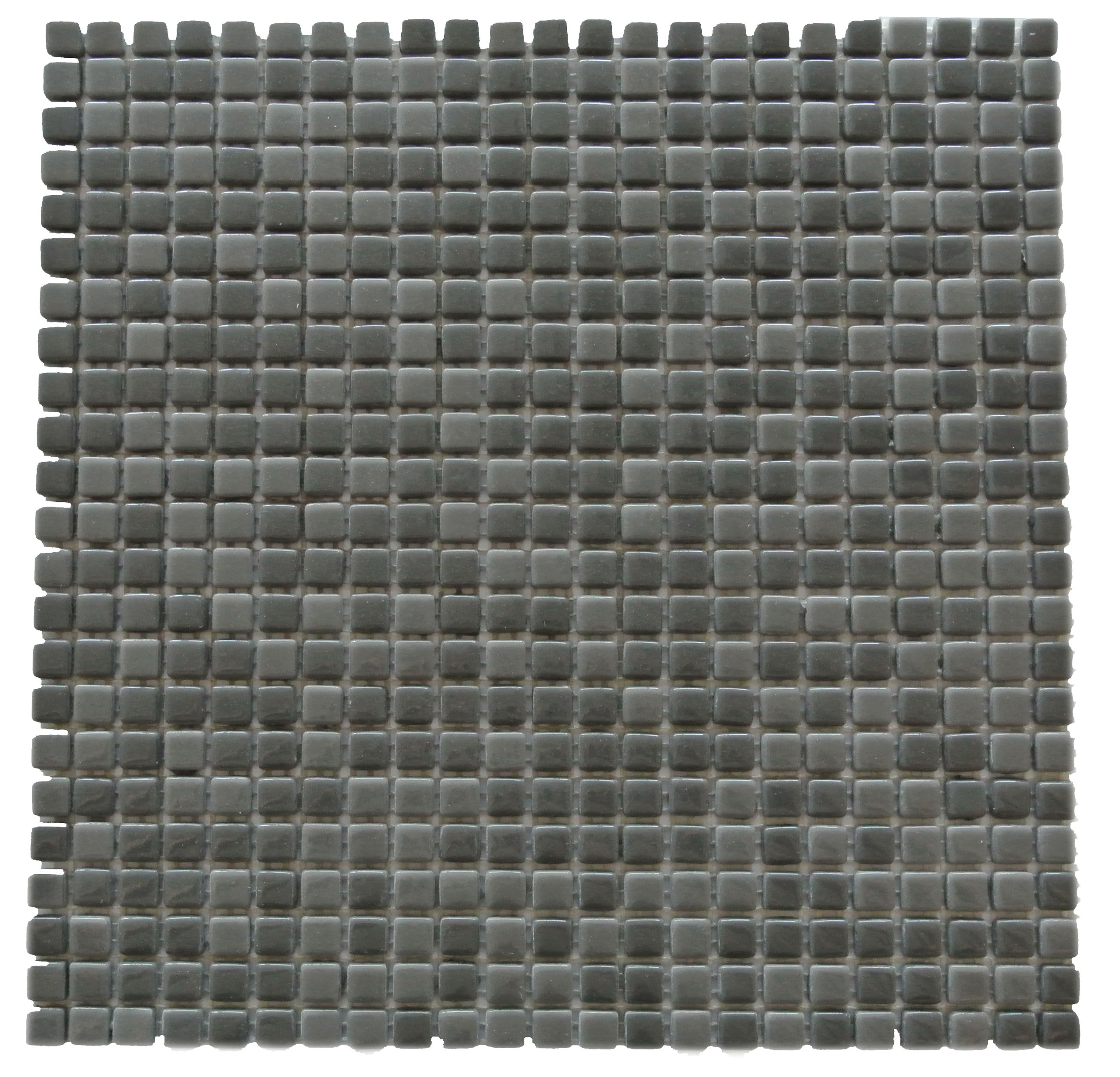 "Full Body 0.5"" x 0.5"" Glossy Dark Gray Glass Square Backsplash Mosaic Wall & Floor Tile"