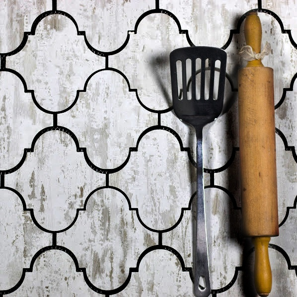 "Nature 5.625"" x 5.625"" Matte White Glass Arabesque Waterjet Backsplash Mosaic Wall Tile"