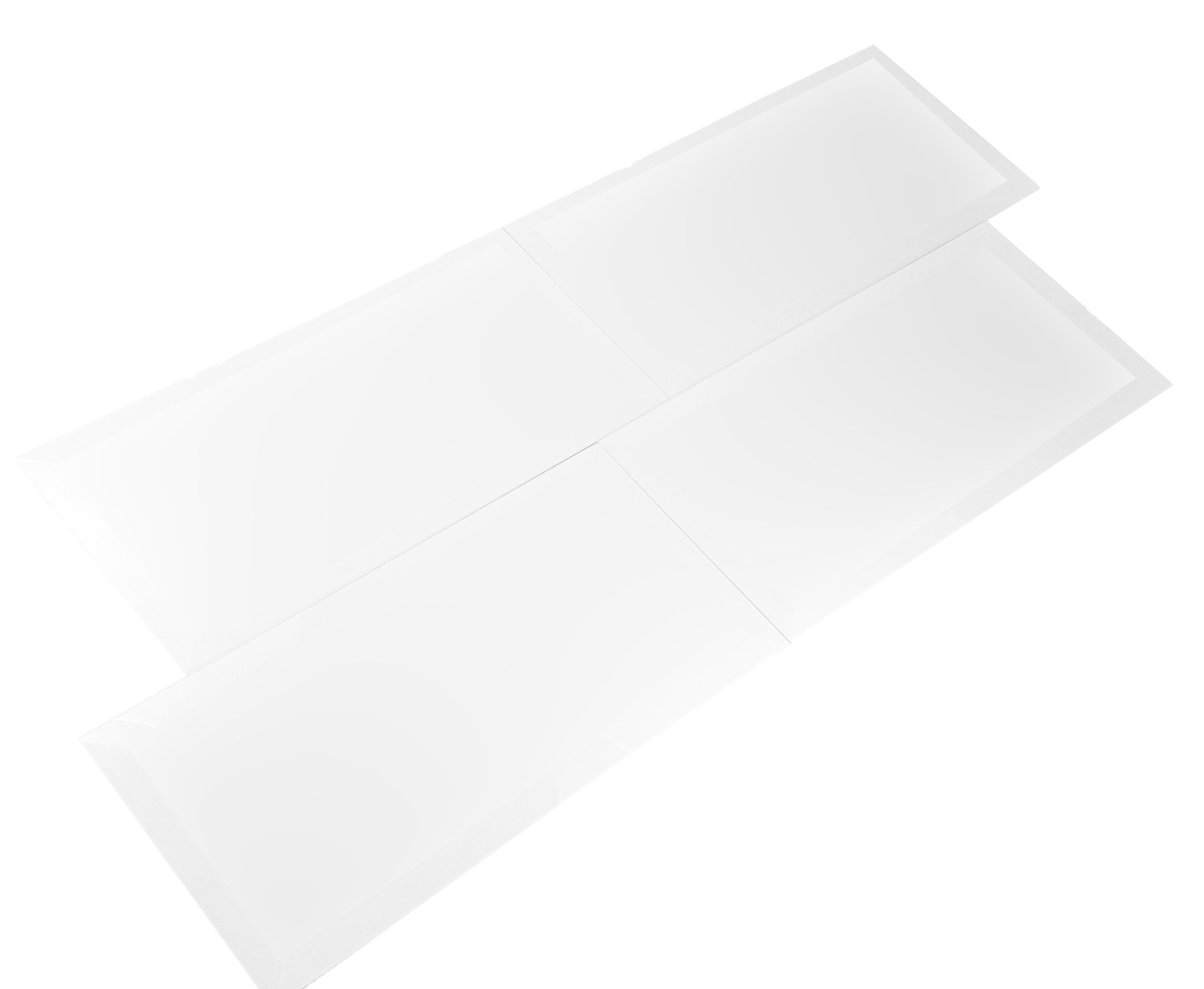 "Frosted Elegance 8"" x 16"" Matte White Glass Field Backsplash Wall Tile"
