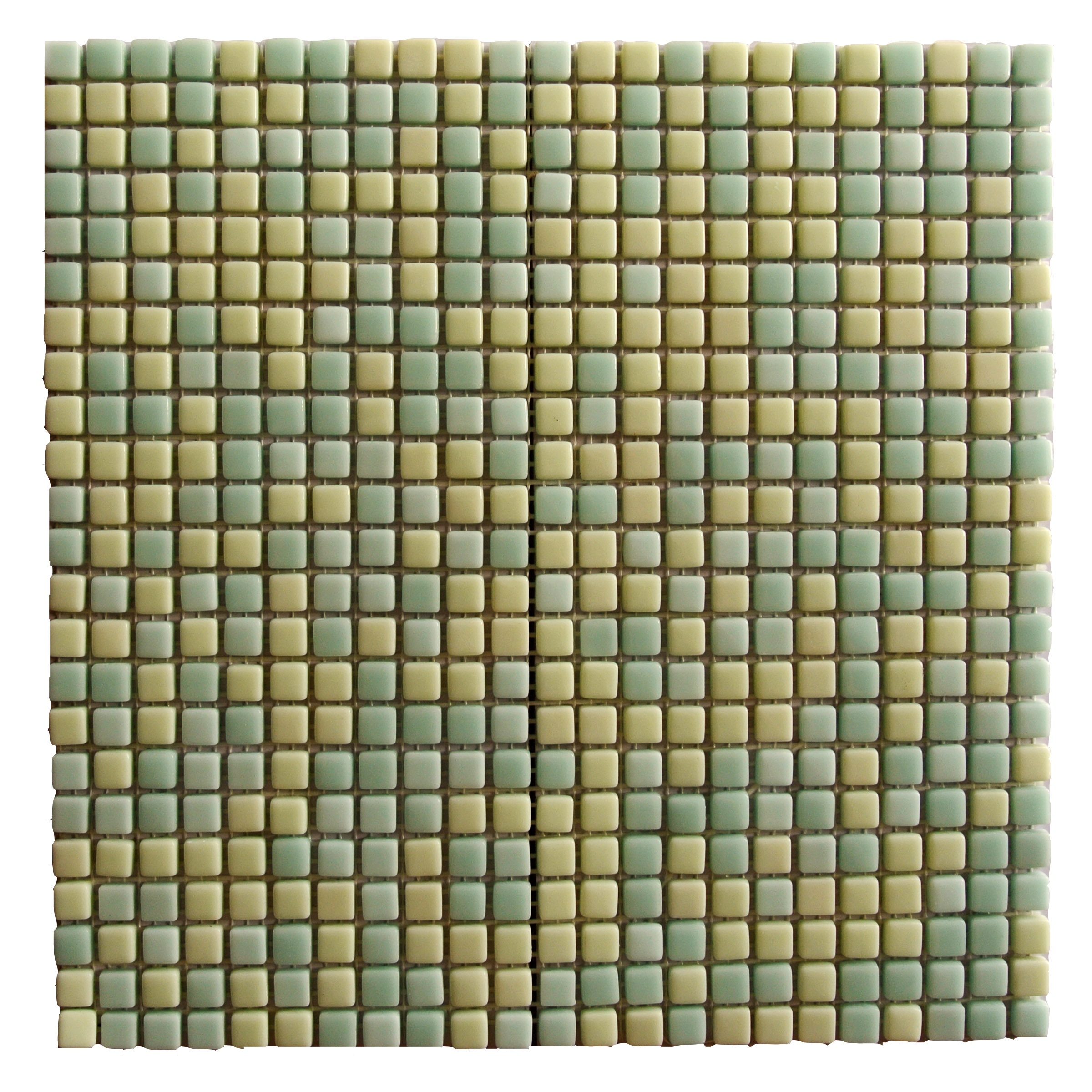 "Marble 0.5"" x 0.5"" Multi Finish Green Glass Square Backsplash Mosaic Wall & Floor Tile"