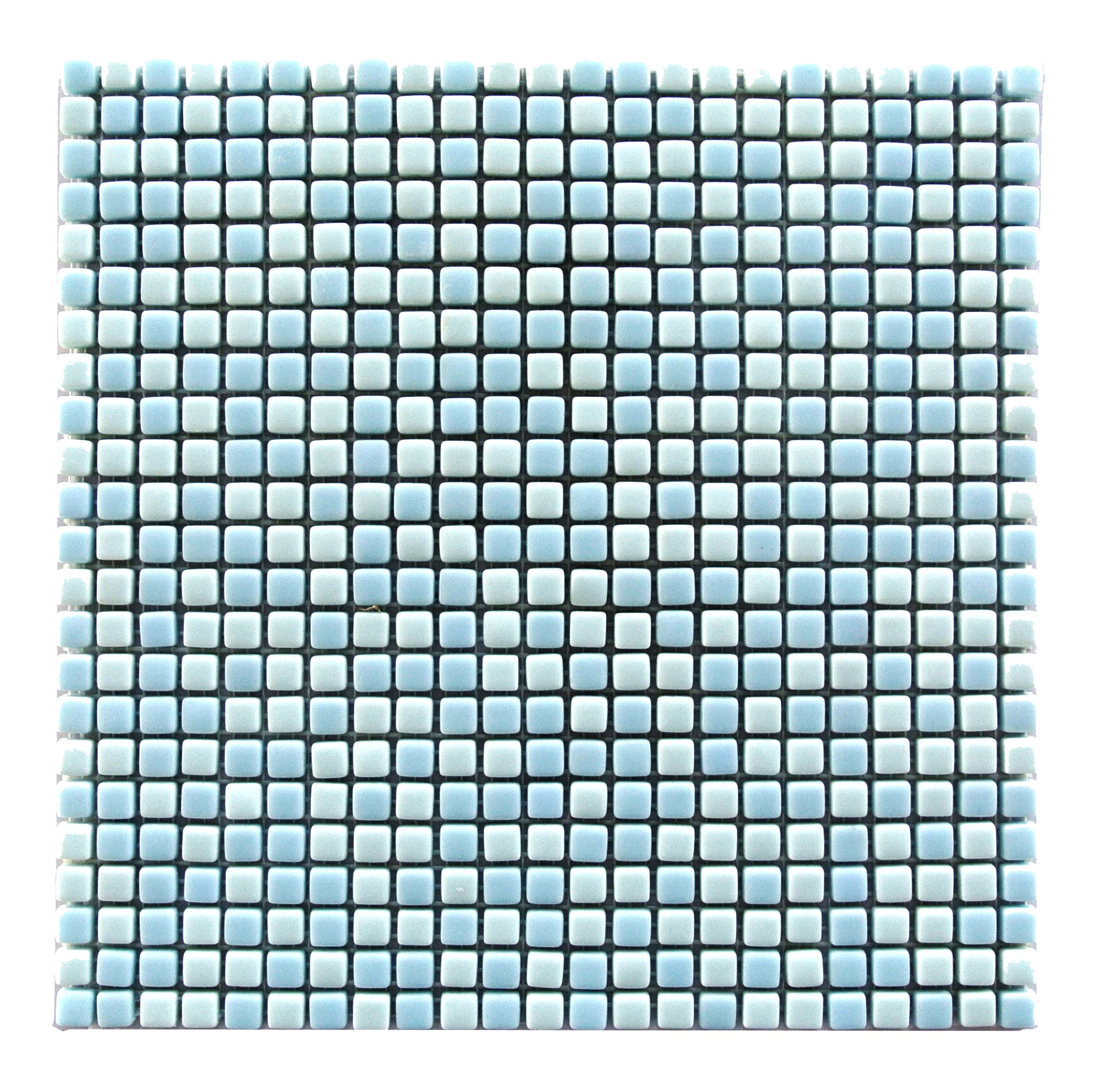 Full Body 0.5 in x 0.5 in Glass Square Mosaic in LIGHT BLUE Glossy