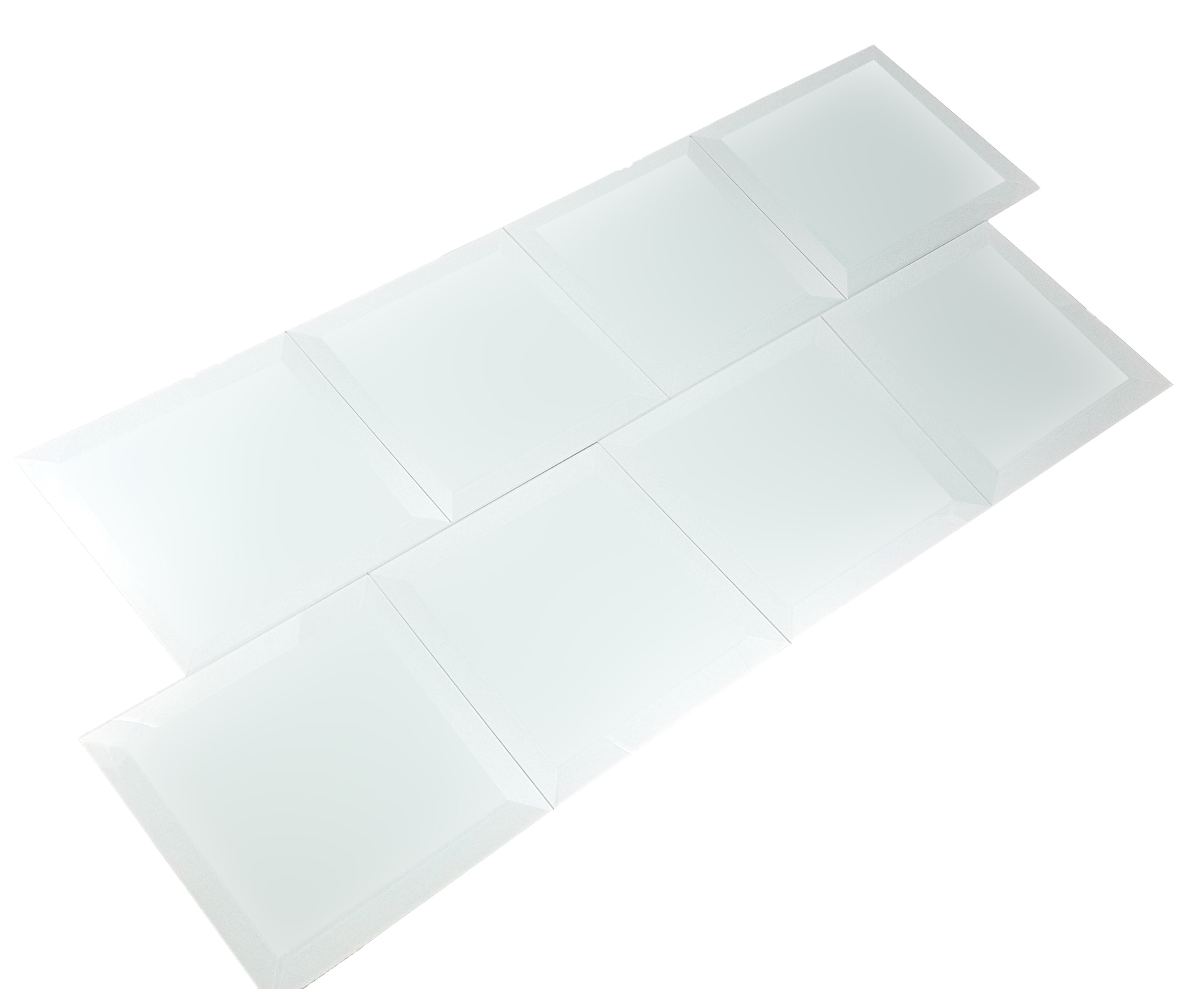 Frosted Elegance 8 in x 8 in Glass Field Tile in MARIE ANTOINETTE Matte