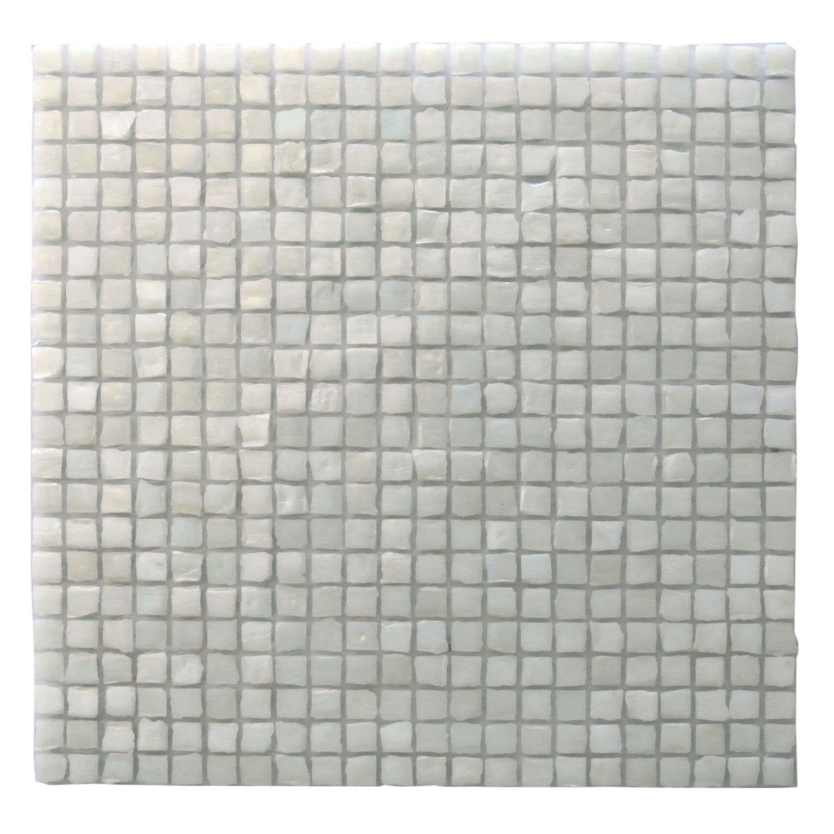 Ecologic 0.375 in x 0.375 in Glass Square Mosaic in NEVE Glossy