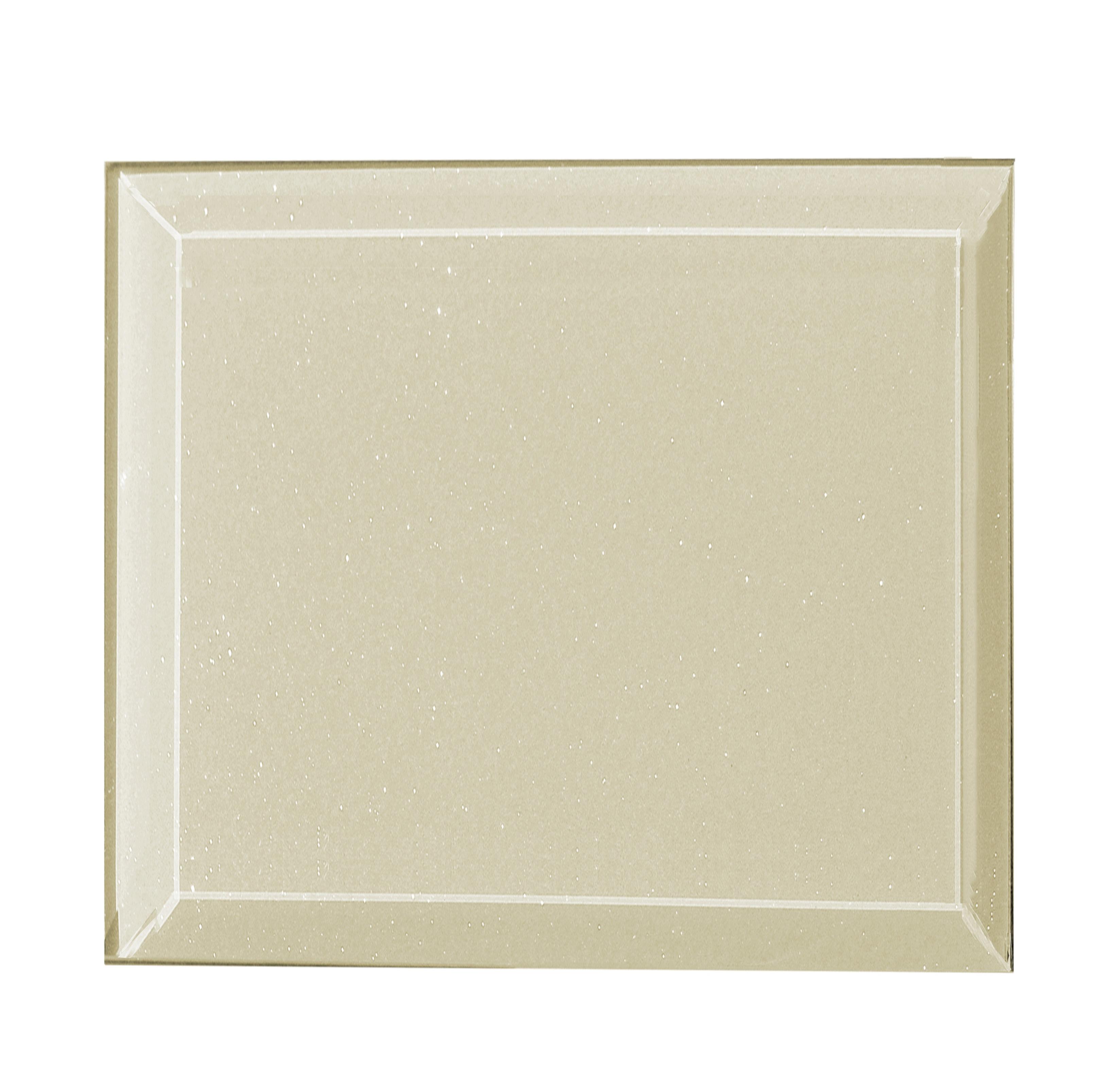 """Frosted Elegance 8"""" x 8"""" Glossy Beige Glass Field Backsplash Wall Tile"""