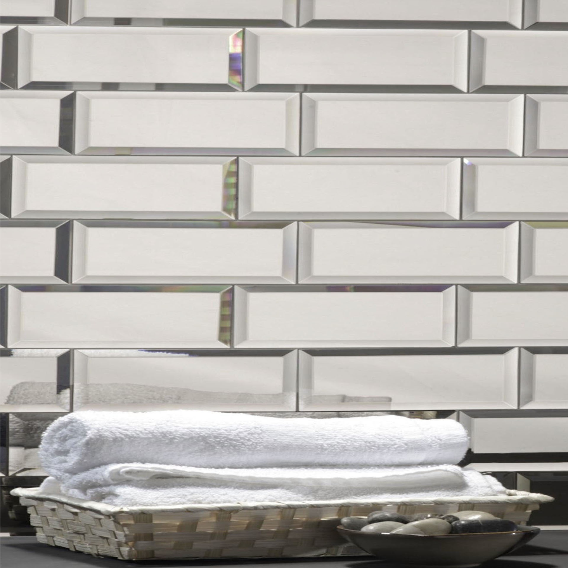 Reflections 3 In X 12 In Mirror Subway Tile In Silver Glossy