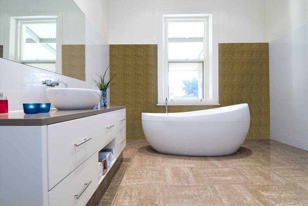 "Galaxy 0.31"" x 0.31"" Iridescent Beige Glass Straight Backsplash Mosaic Wall & Floor Tile"
