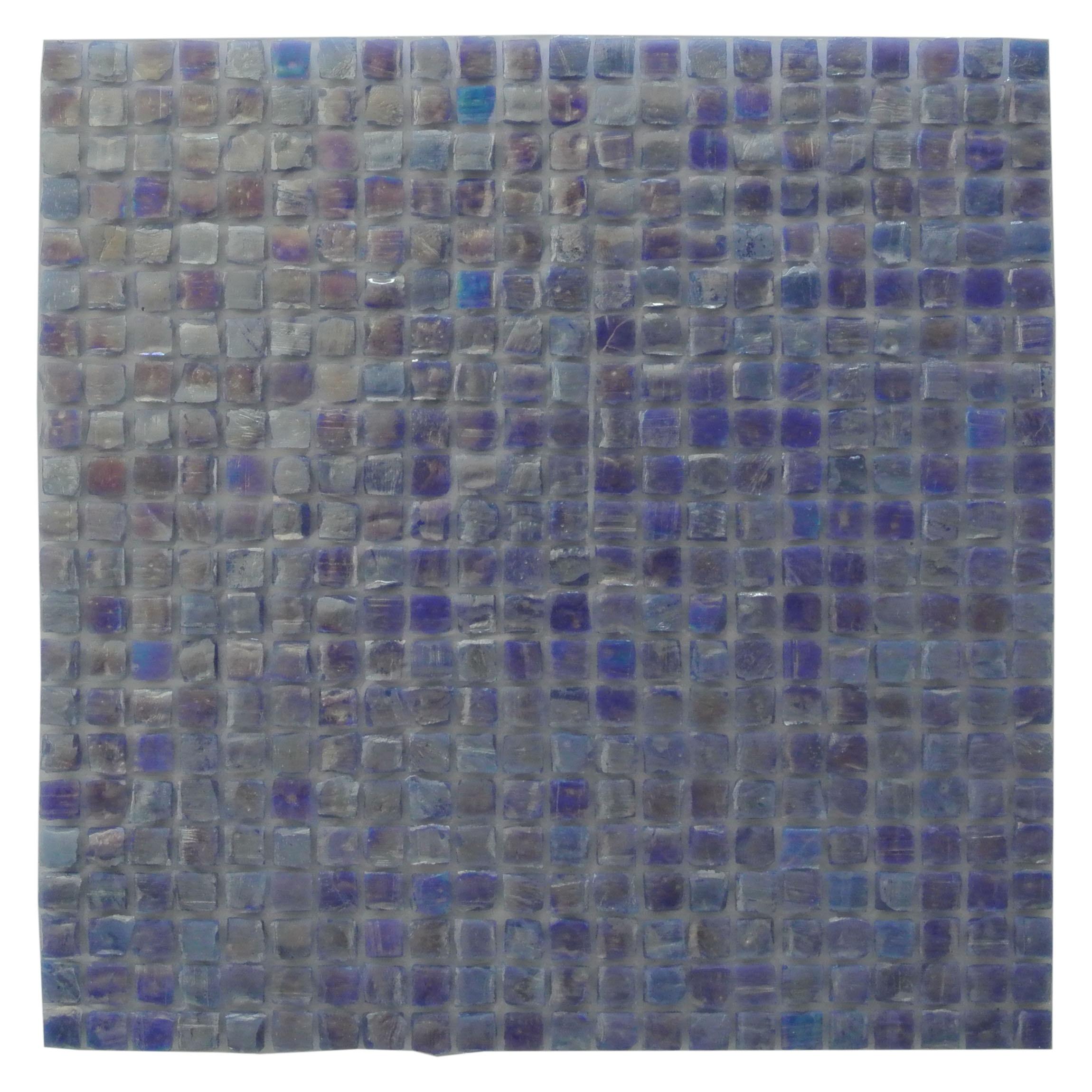 "Ecologic 0.375"" x 0.375"" Glossy Purple Glass Square Backsplash Mosaic Wall Tile"