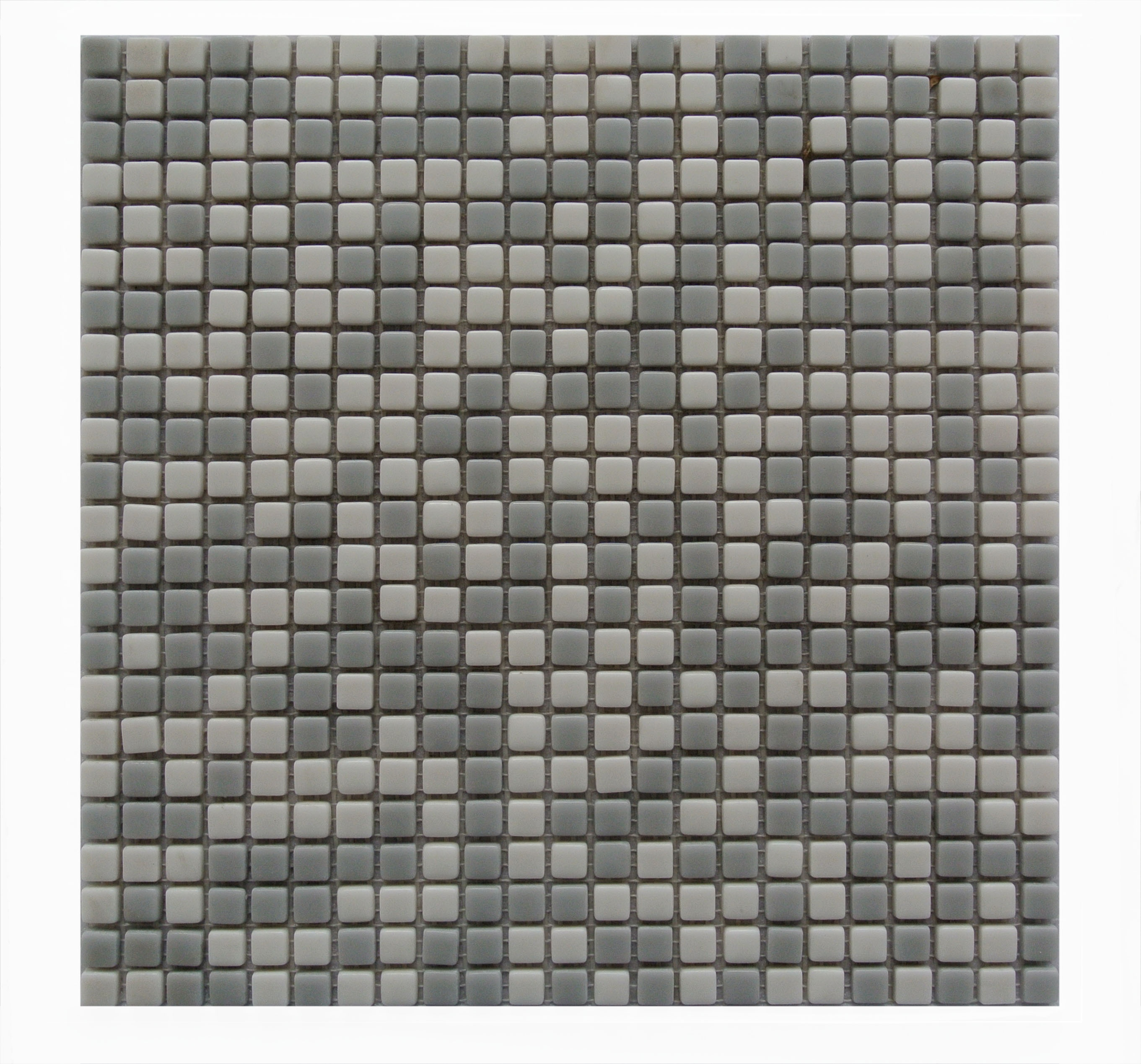 "Full Body 0.5"" x 0.5"" Glossy Gray Glass Square Backsplash Mosaic Wall & Floor Tile"