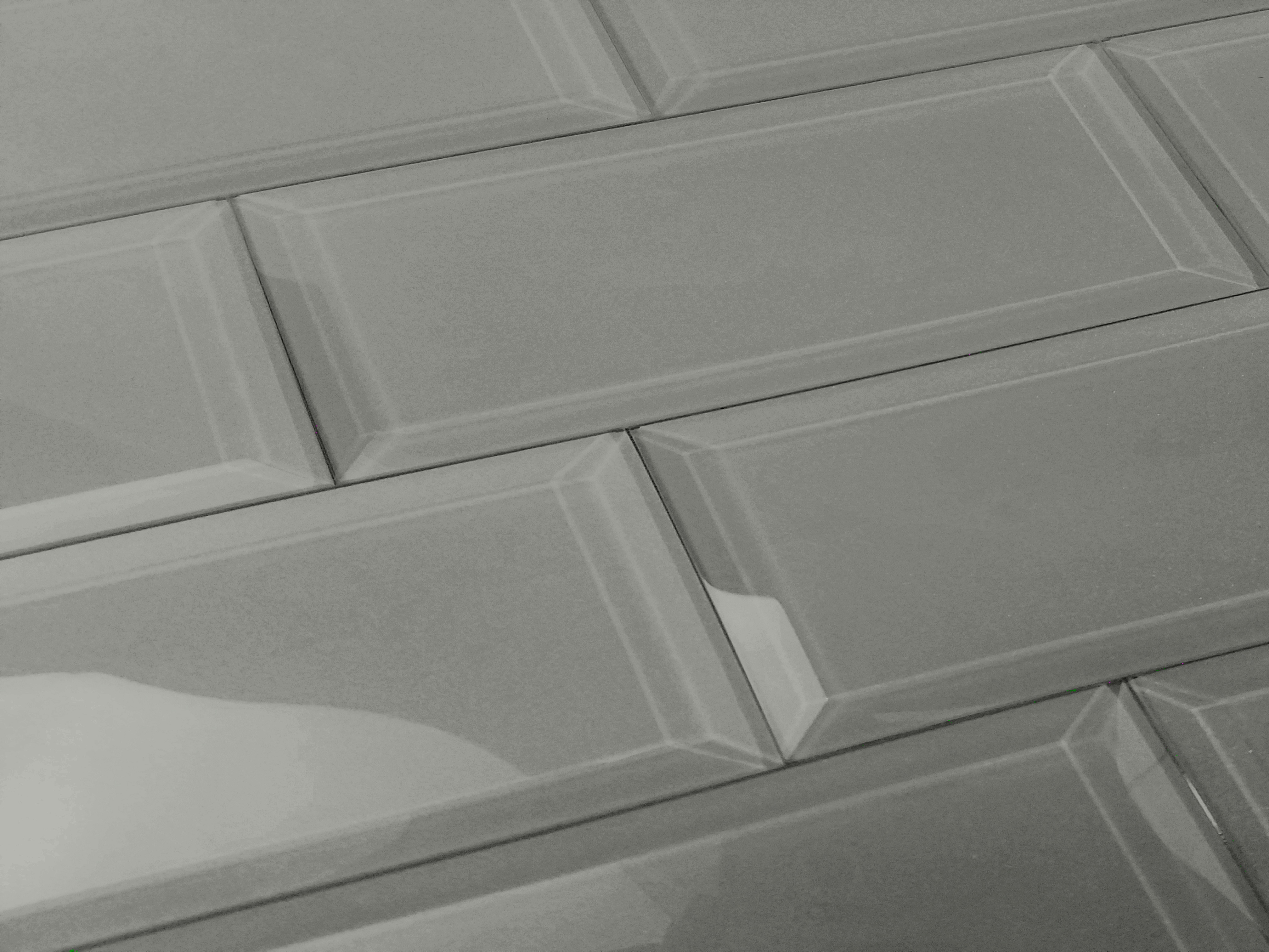 "Frosted Elegance 3"" x 12"" Glossy Gray Glass Subway Backsplash Wall Tile"
