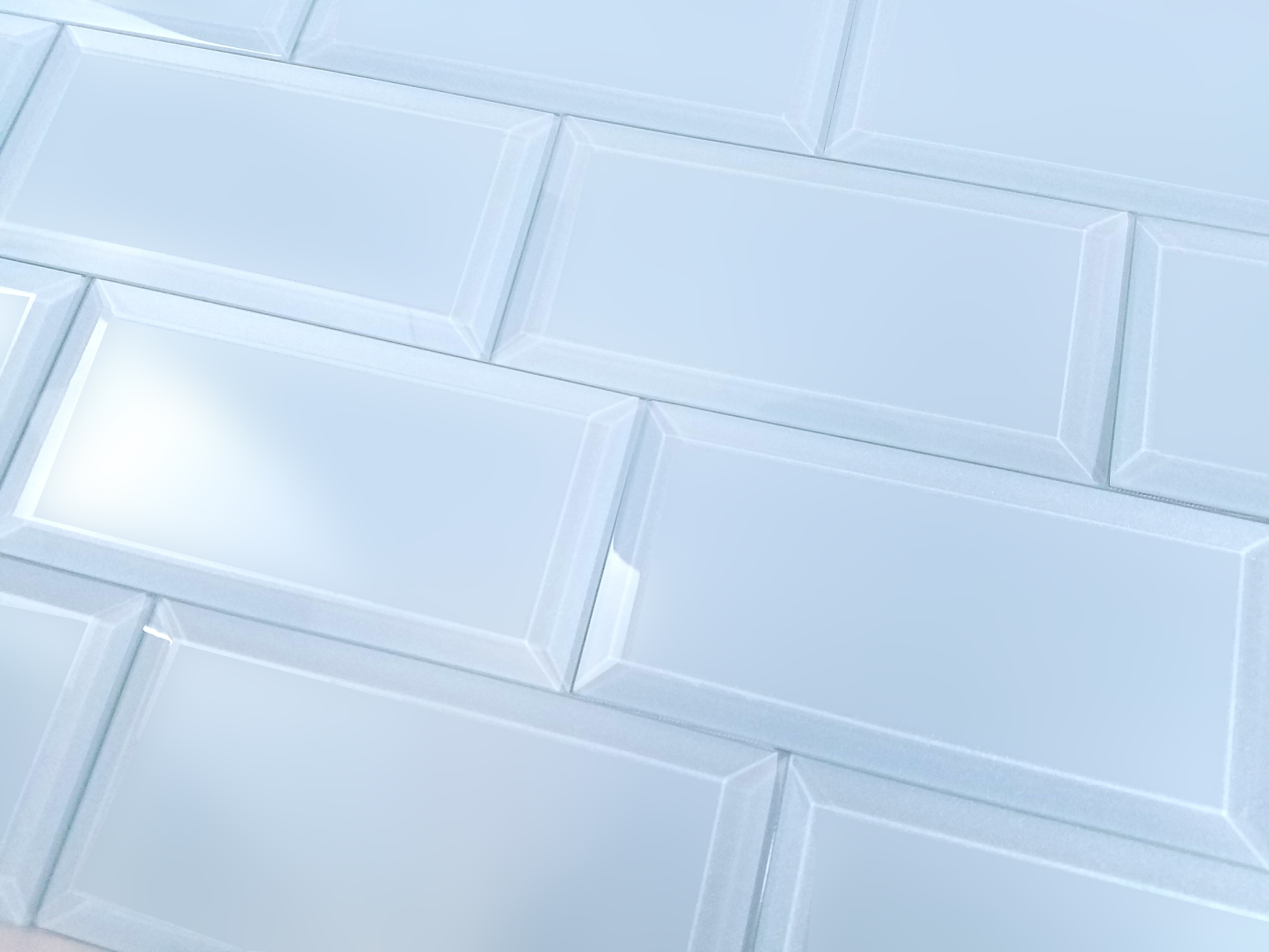 Frosted Elegance 3 in x 6 in Glass Subway Tile in CATHERINE Matte