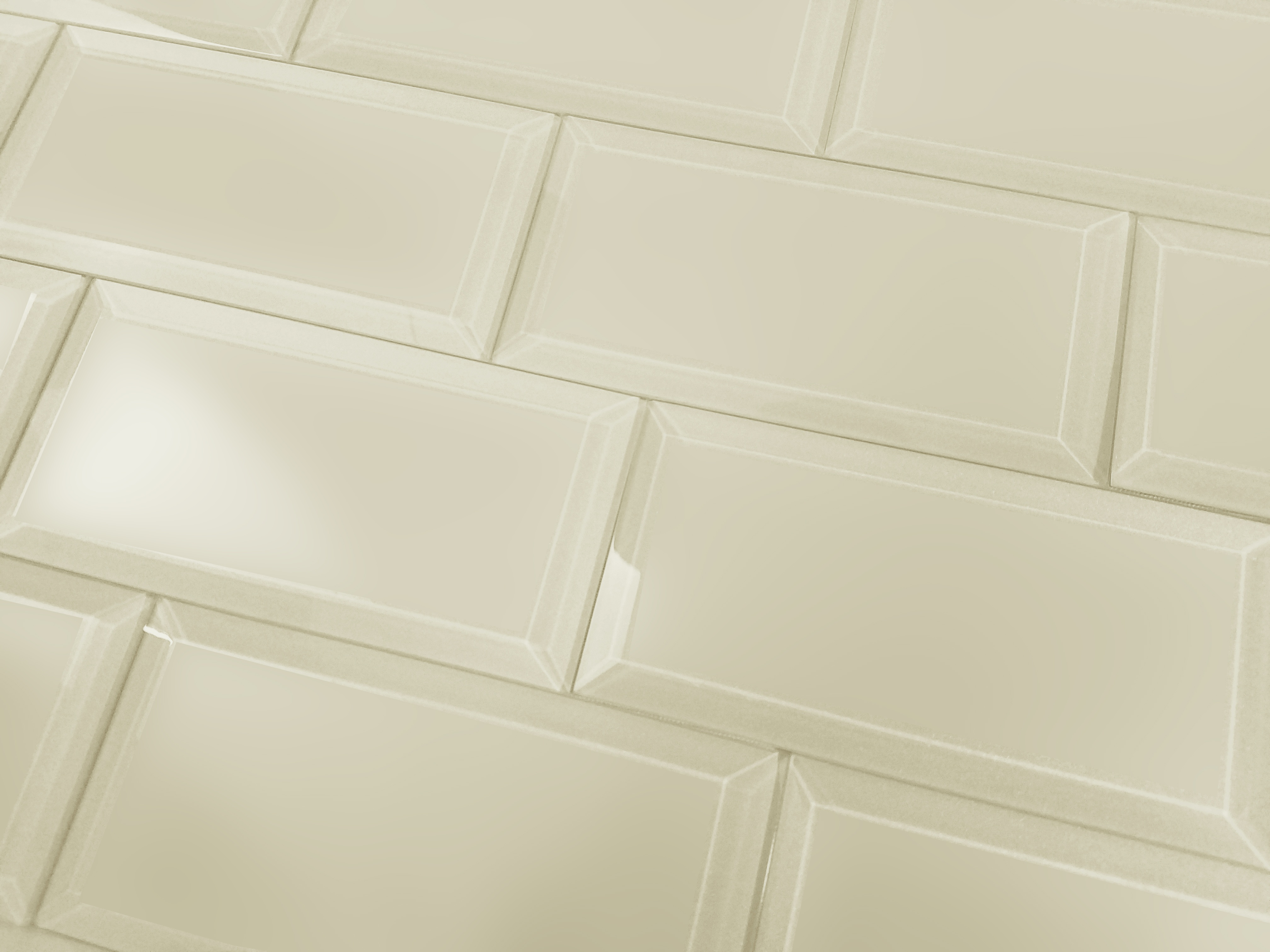 "Frosted Elegance 3"" x 6"" Matte Beige Glass Subway Backsplash Wall Tile"