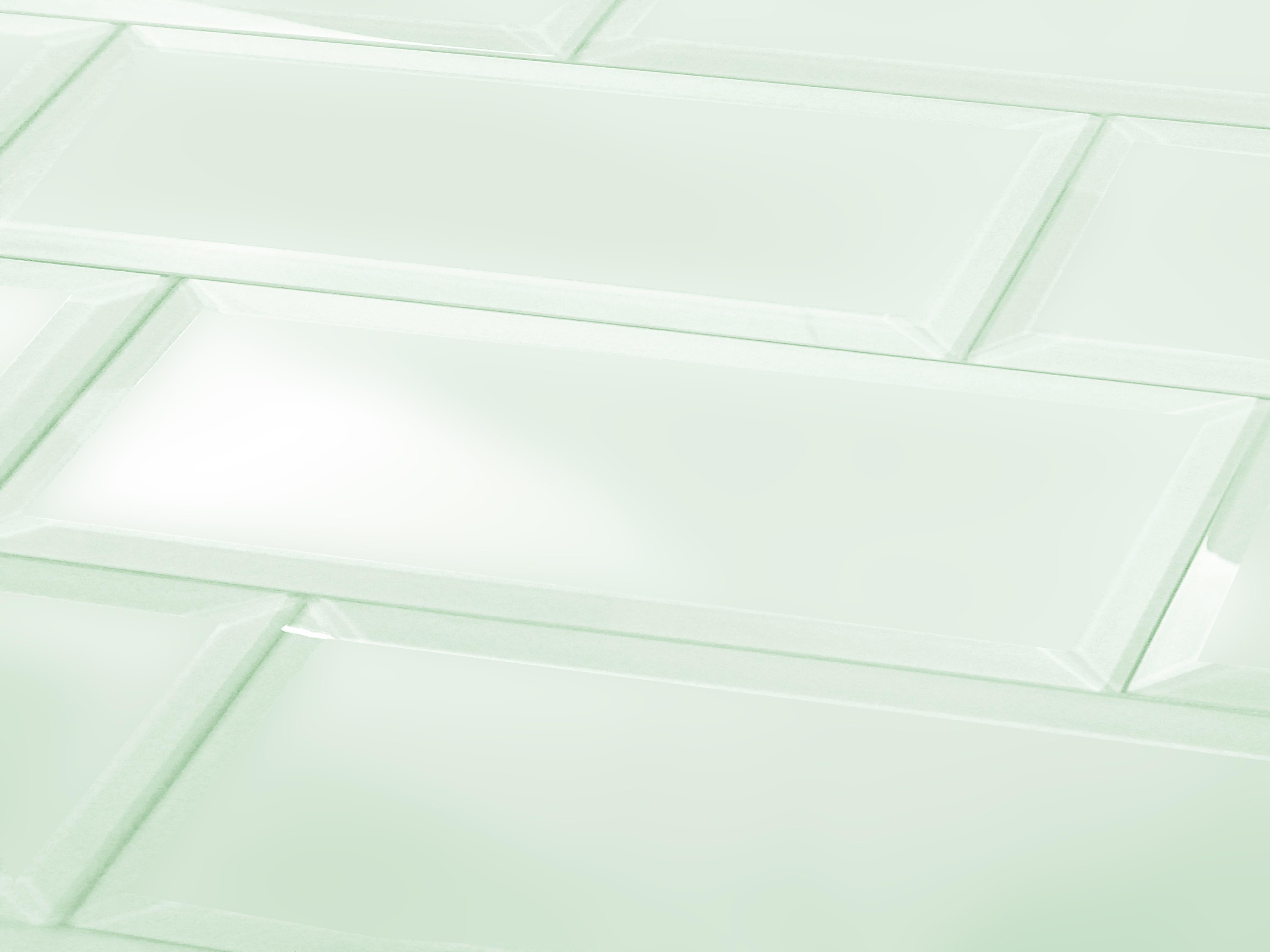 """Frosted Elegance 3"""" x 12"""" Matte Green Glass Subway Backsplash Wall Tile"""