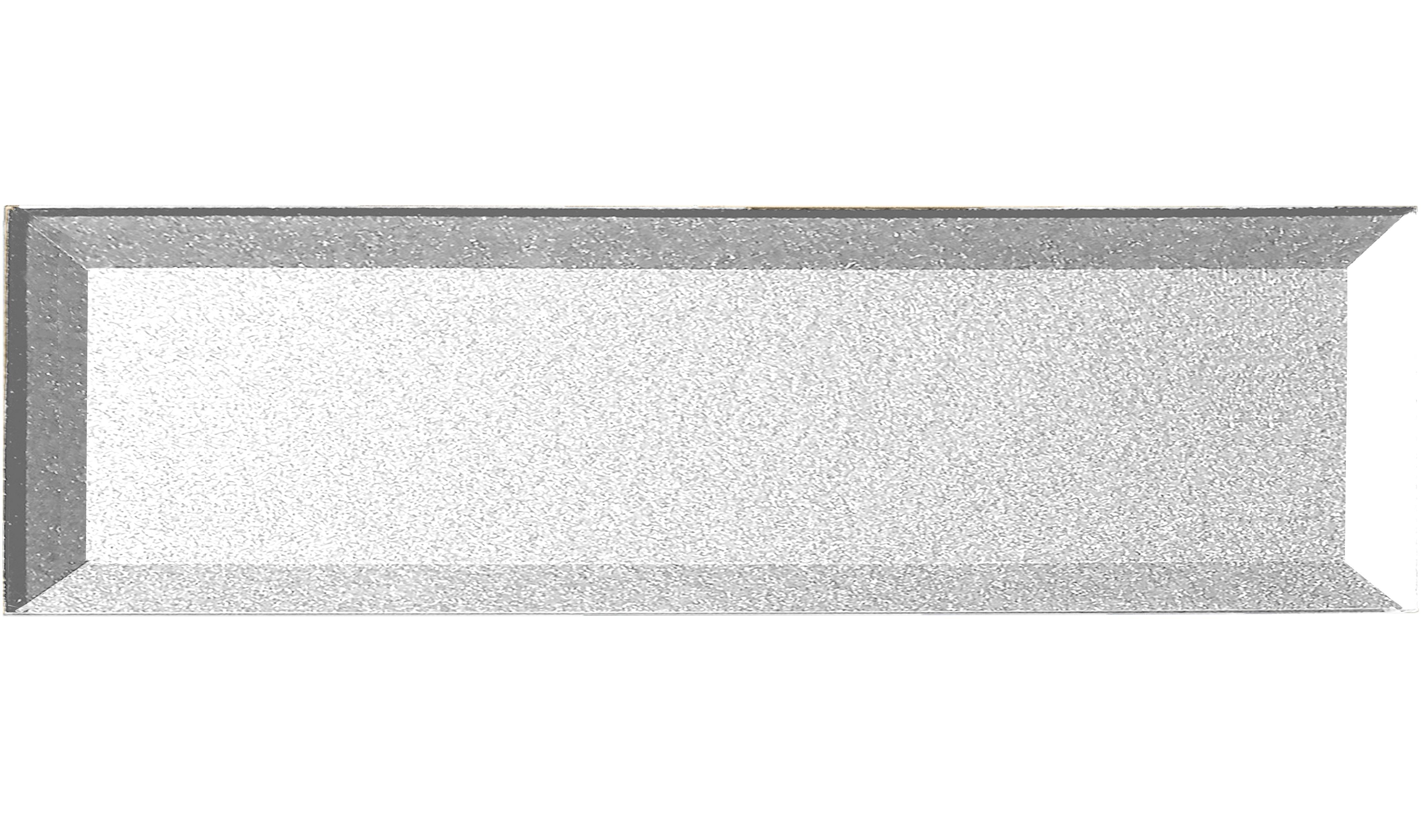 "Forever 4"" x 16"" Beveled Silver Glass Subway Backsplash Wall Tile"