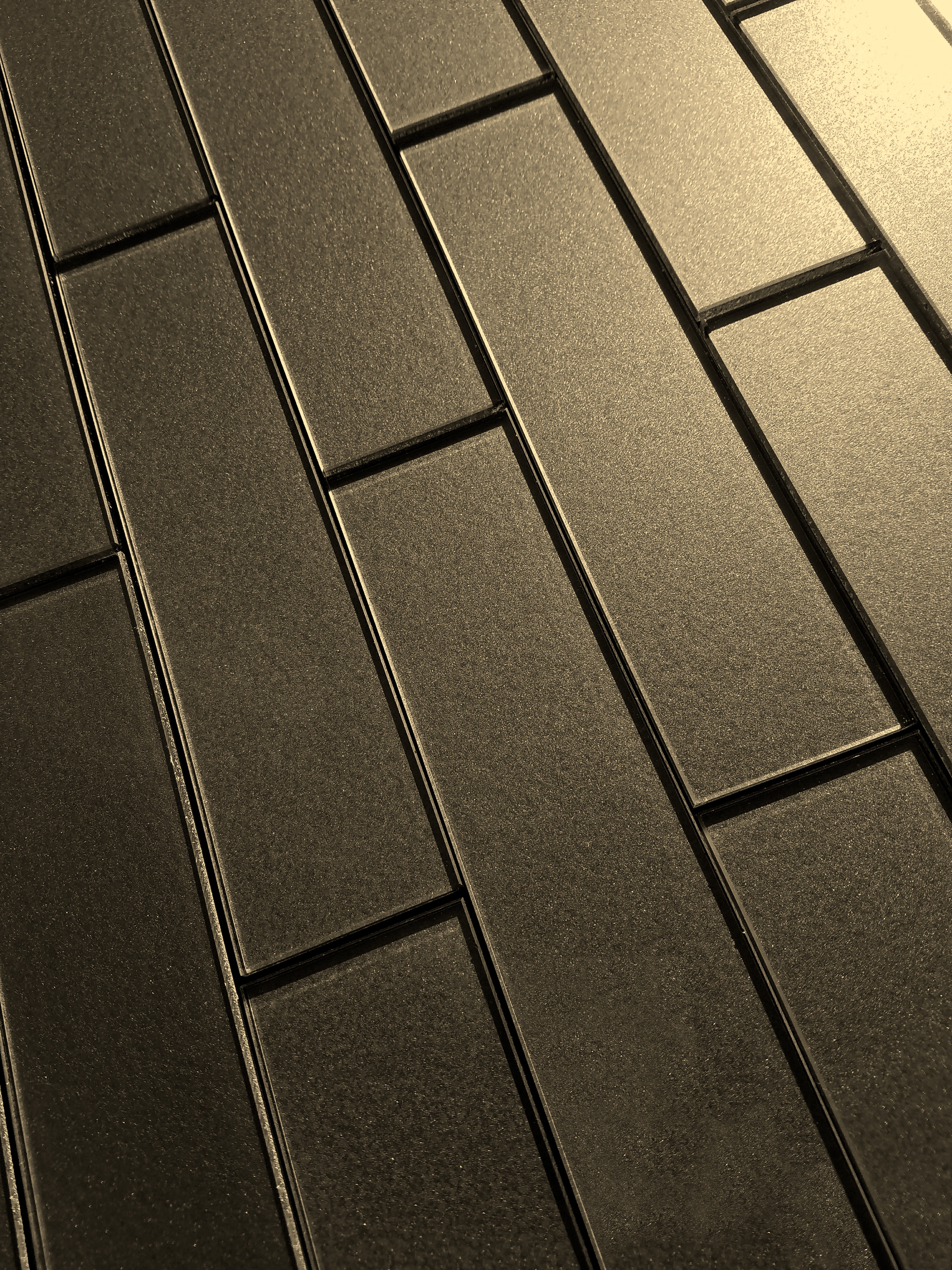 Forever 2 in x 8 in Glass Loose Tile in ETERNAL BRONZE Glossy Straight