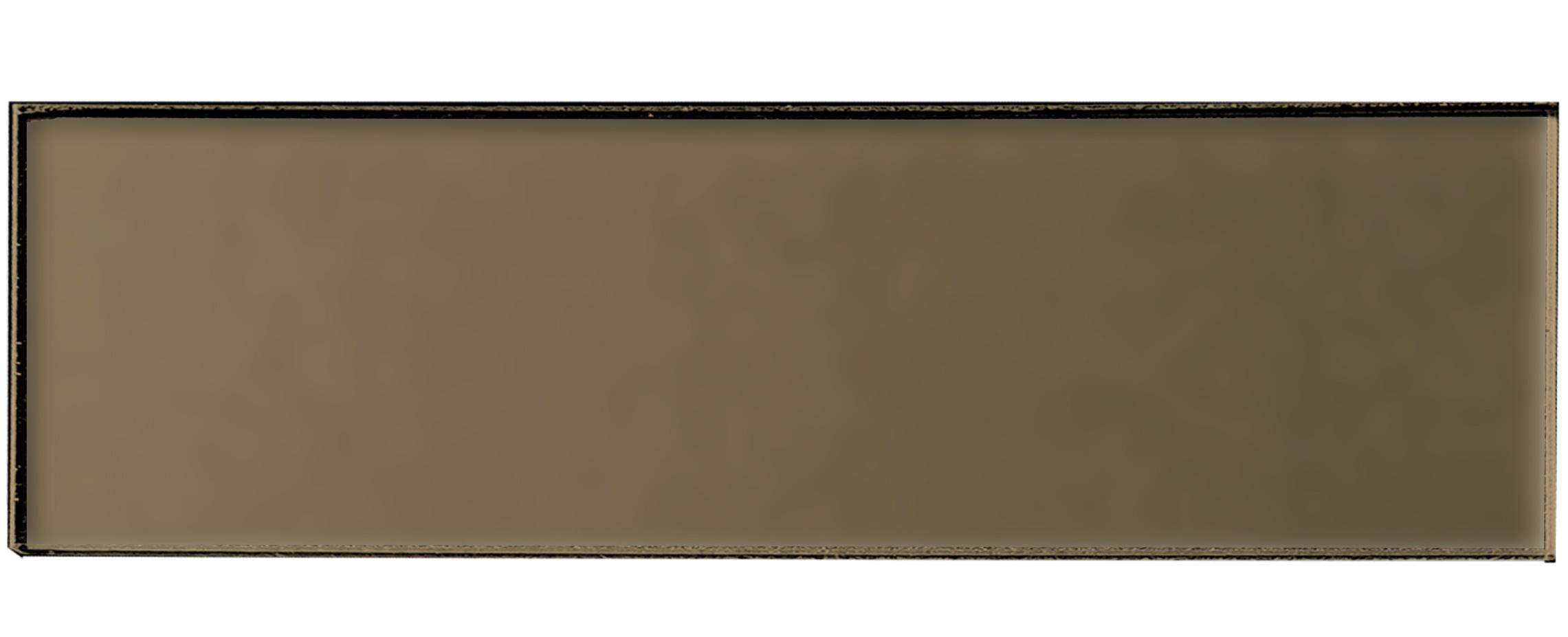 "Forever 4"" x 16"" Matte Bronze Glass Subway Backsplash Wall Tile"