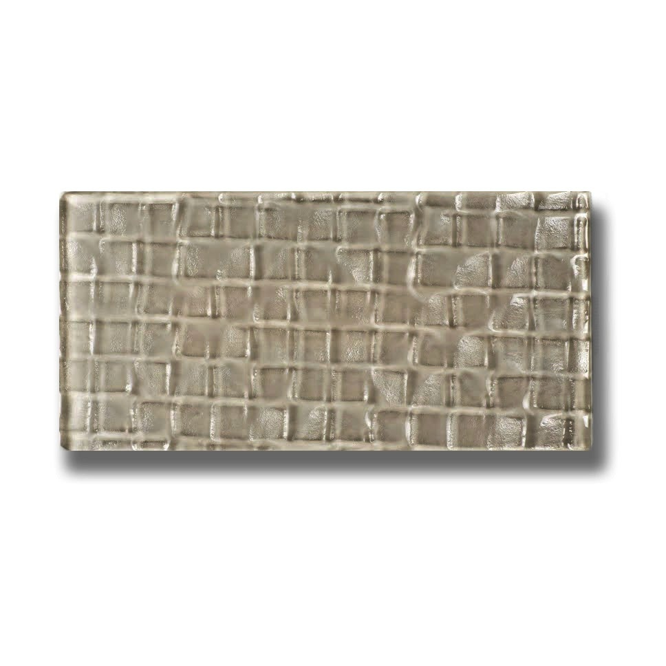 Metro Cubes 3 in x 6 in Glass Subway Tile in OLIVE Glossy