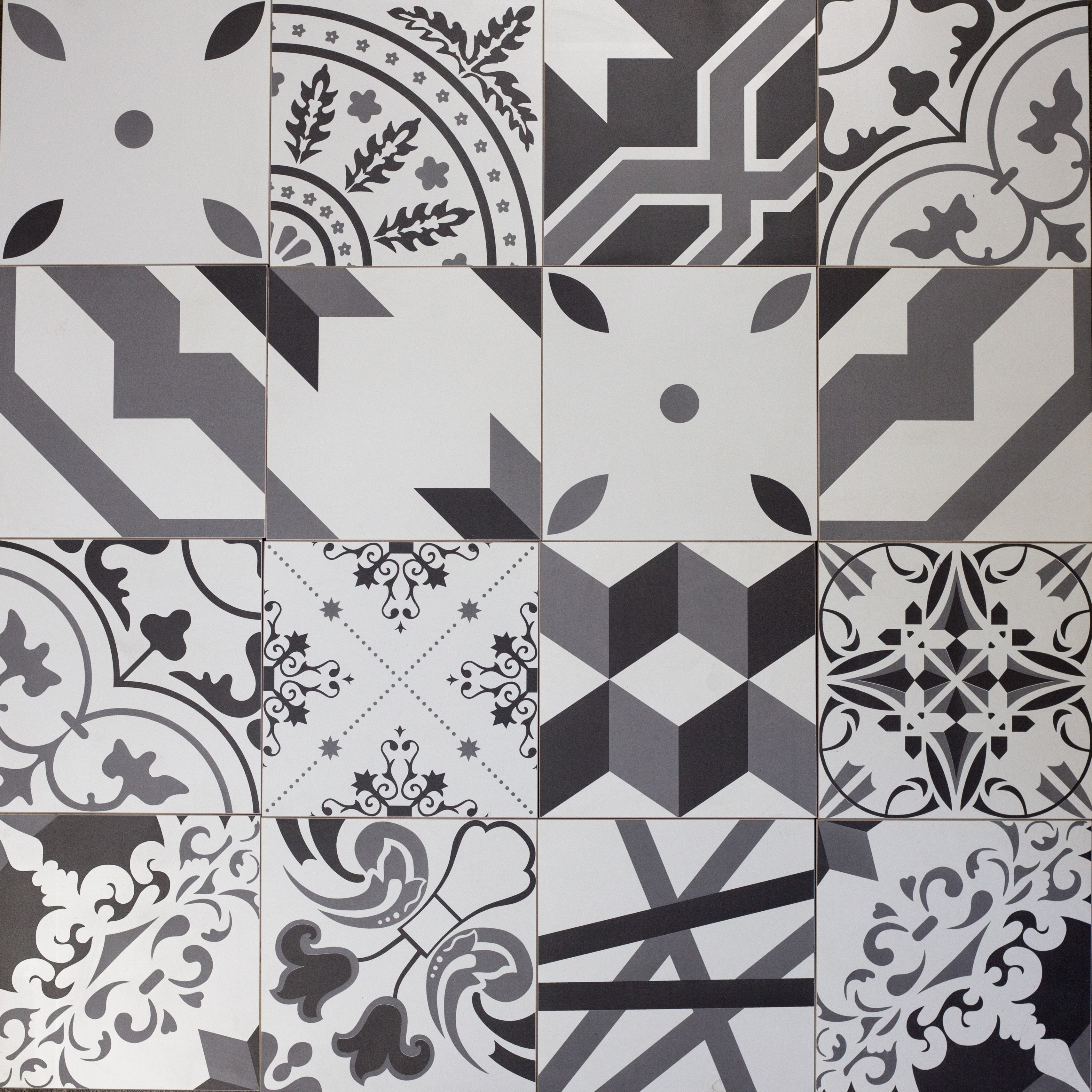 Grand Cement 8 in x 8 in Porcelain Field Tile in PERFECT NOTE (12 MIXED PATTERNS) Matte