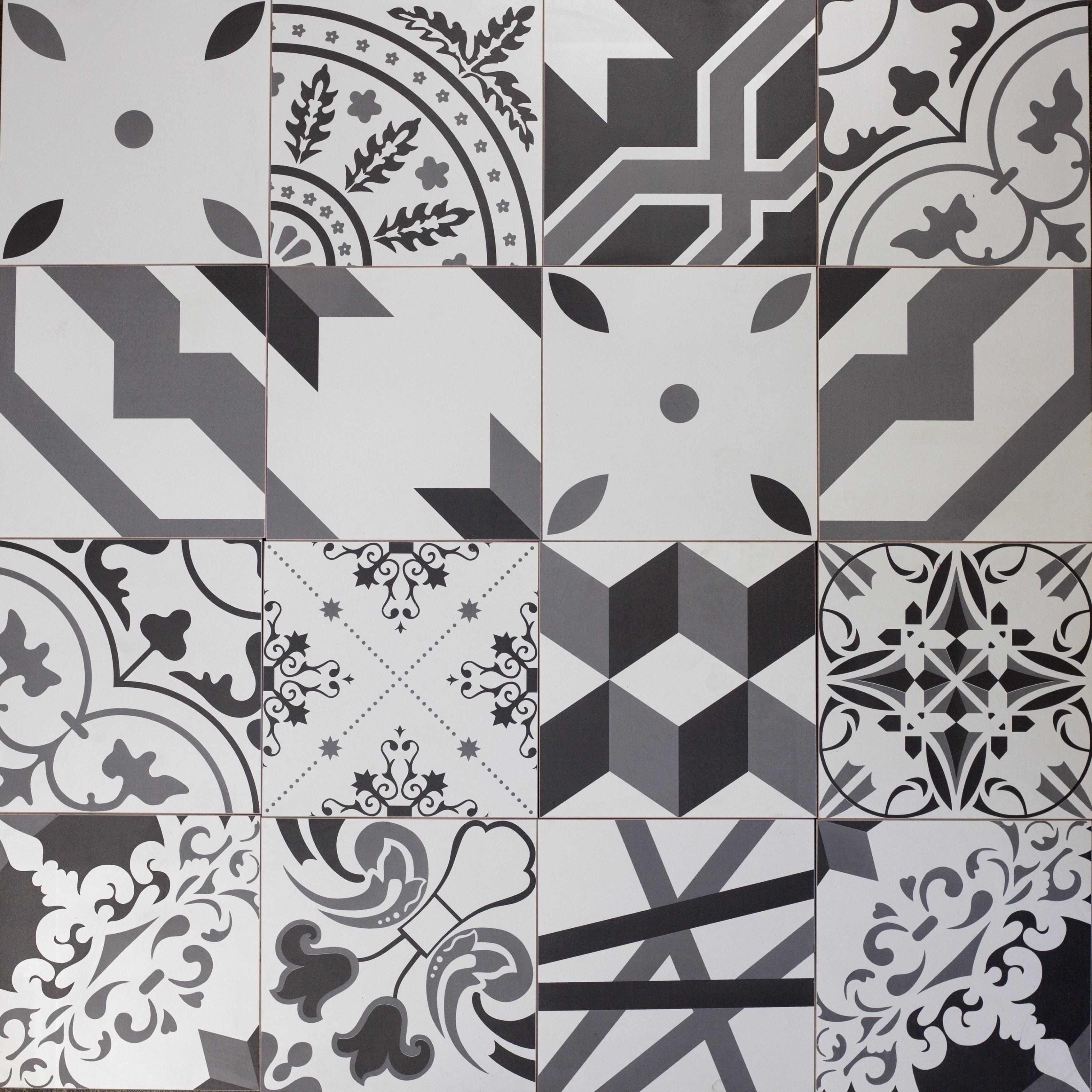 "Grand Cement 7"" x 7"" Ceramic Squares Perfect Note"