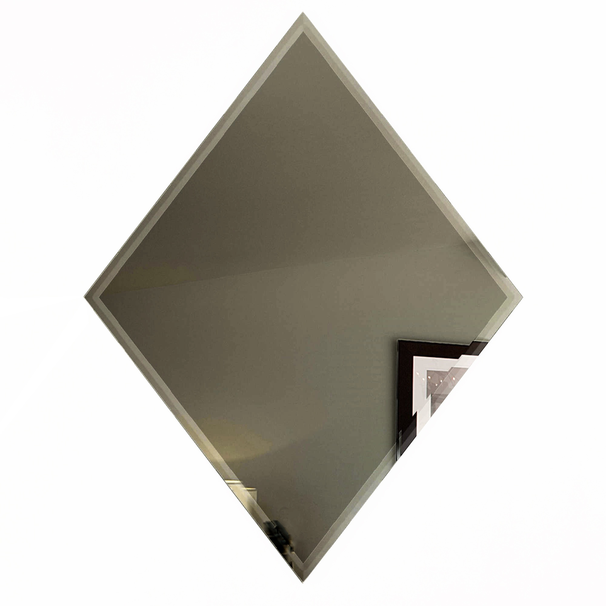 Reflections 6 in x 8 in Mirror Diamond Tile in GOLD Glossy