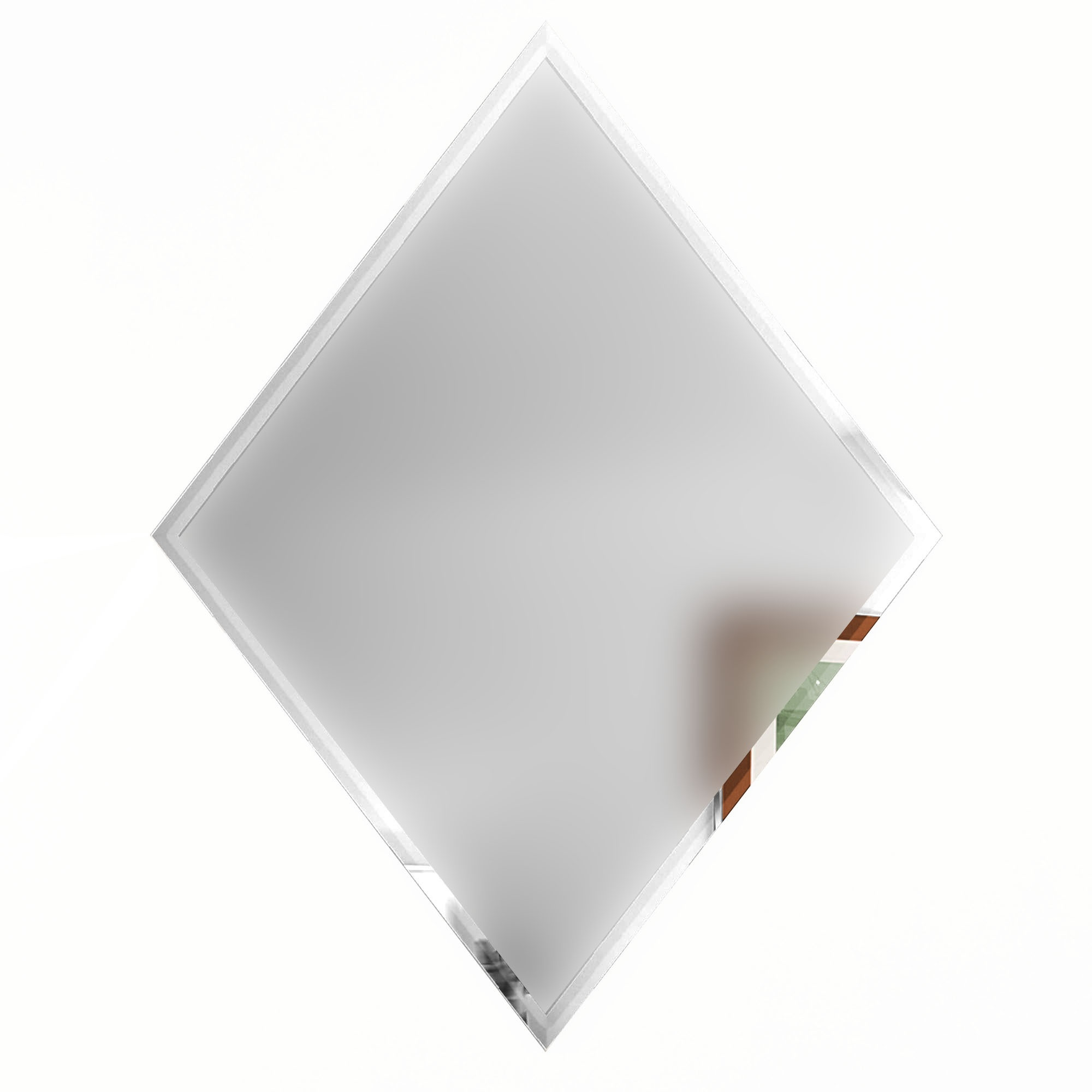 """Reflections 6"""" x 8"""" Matte Silver Mirror Diamond Backsplash Wall Tile"""