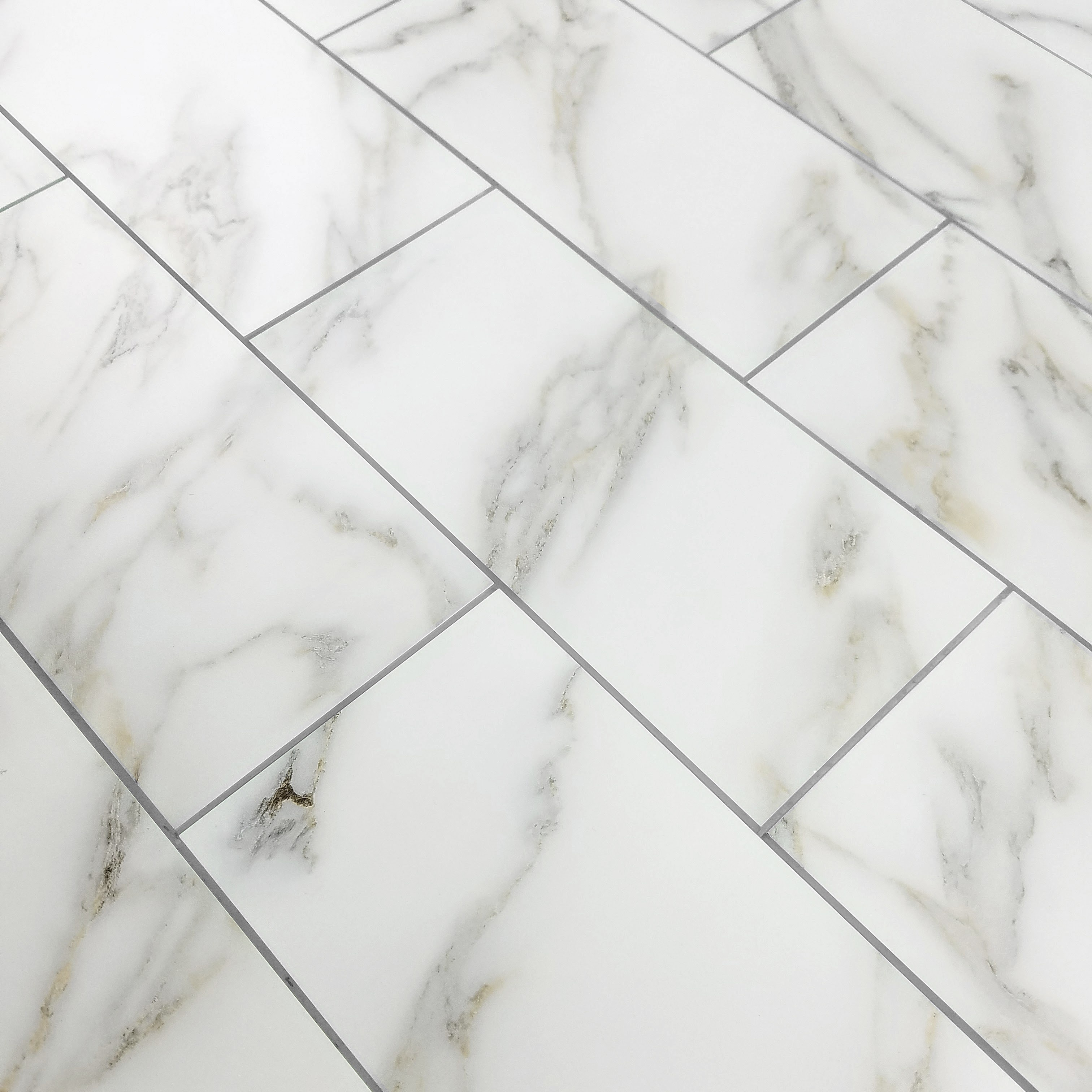 Nature 8 X 16 Gl Marble Look Tile In Calacatta Gold Is Available For Purchase Increments Of 6