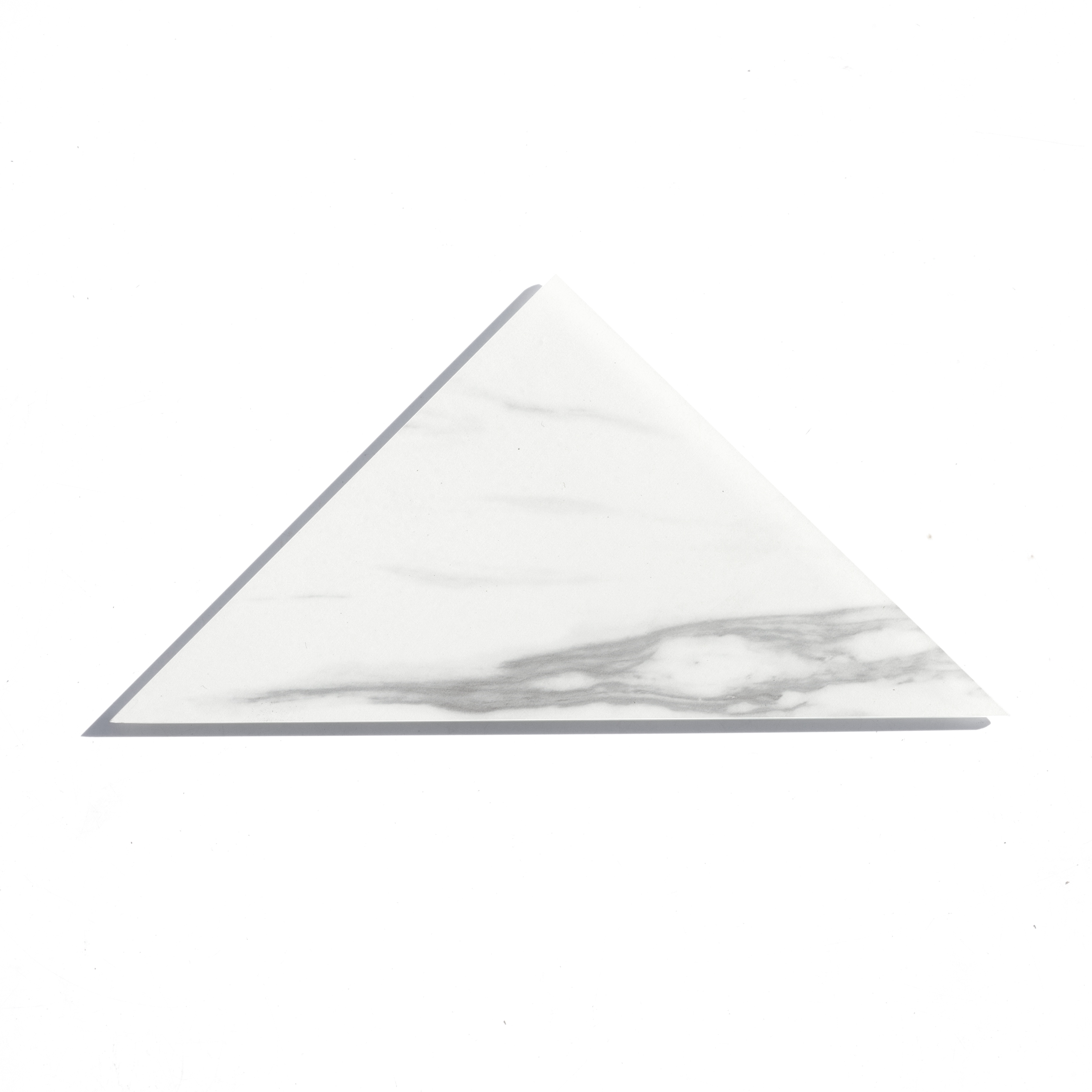 "Nature 7"" x 7"" Matte White Glass Triangle Backsplash Wall Tile"